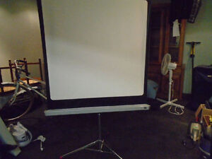 48 Inch x 48 Inch Portable Projection Screen on Tripod