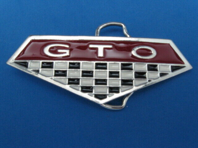 NEW OLD STOCK GTO PEWTER STYLE METAL BELT BUCKLE MADE IN USA