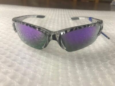 Black Zebra Womens Sunglasses - $34.99 NWT WORTH Women's wrap sunglasses - zebra print black/gray-silver  03
