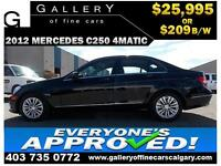 2012 Mercedes C250 4Matic $209 bi-weekly APPLY NOW DRIVE NOW