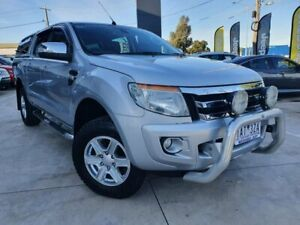 2014 Ford Ranger PX XLT Double Cab 4x2 Hi-Rider Silver 6 Speed Sports Automatic Utility