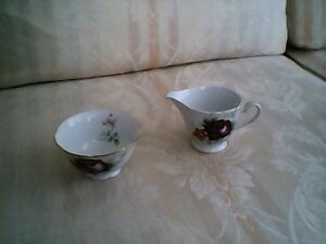 Trimont china hand painted Cream and Sugar set (Occupied Japan)