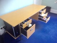 Office desk with 5 drawers