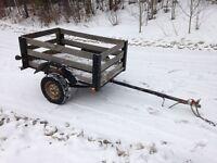 Heavy duty farm/utility trailer, wired