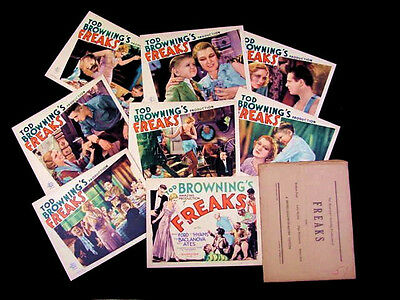 FREAKS 1932 * TOD BROWNING * COMPLETE LOBBY CARD SET * MINT * SUPER RARE * L@@K!