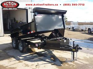 CLEARENCE DUMP TRAILER 3.5 TON W/10' BOX - LOW PRICE- BEST VALUE London Ontario image 1