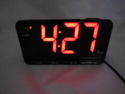 Equity Large Numeral 3 Red LED Digital Alarm Clock Model 30402