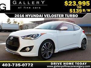 2016 Hyundai Veloster Turbo $139 bi-weekly APPLY NOW DRIVE NOW