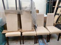 Dining Chairs x 6 Cream
