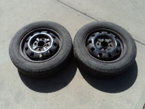2 Michelin Tires with Rims for Sentra 175/65/14