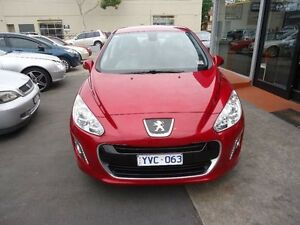 2011 Peugeot 308 T7 MY12 Active Burgundy 6 Speed Sports Automatic Hatchback Alphington Darebin Area Preview