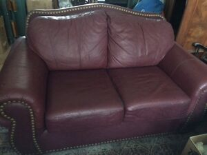 All Leather Love Seat