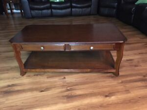 Chestnut Coffee table and End Tables (2)