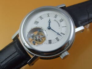 MINORVA SS 1-Min.Real Flying Tourbillon watch silver