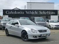 2007 57 MERCEDES-BENZ C CLASS 1.8 C180 KOMPRESSOR SE SPORTS 3D 141 BHP