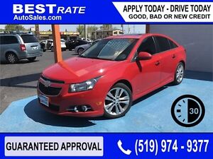 CHEVY CRUZE LTZ TURBO - APPROVED IN 30 MINS! - ANY CREDIT LOANS