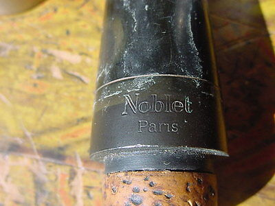Vintage Paris France Hard Rubber Clarinet Mouthpiece Ligature And Cap