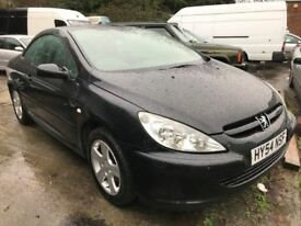 2004 Peugeot 307cc convertible , starts and drives very well, MOT until December 2018, 83,000 miles,