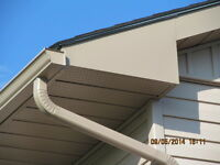 "5"" & 6"" SEAMLESS EAVESTROUGH, Downpipes, Soffit, Fascia, Siding"