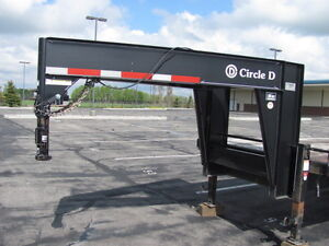 2010 Circle D heavy duty goose-neck flatdeck trailer