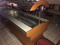 2 x Bain Marie style hot buffet counter/display