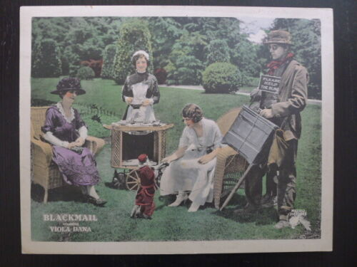 BLACKMAIL (1920) - Original Lobby Card - Viola Davis - Silent - Metro - monkey!!
