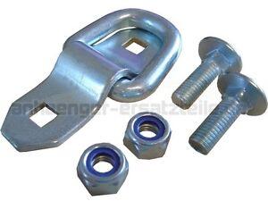 10 * Aufbau Zurring zur Ladungssicherung - Zurröse Zurrlasche Aufbauring