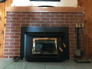High Efficiency Wood Fireplace Insert     New Price