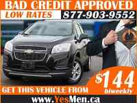 2015 CHEV TRAX * FROM $144 BiWeekly * BAD CREDIT APPROVALS