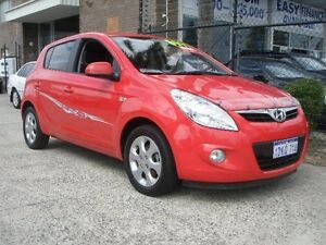 2010 Hyundai i20 PB Elite Red 4 Speed Automatic Hatchback Wangara Wanneroo Area Preview