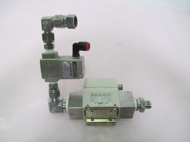 SMC PFW720-04-27 Digital Flow Switch Assy w/ VNB104B Process Valve, 423492