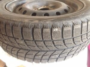 Sell 195 55 15 winter tires with rims