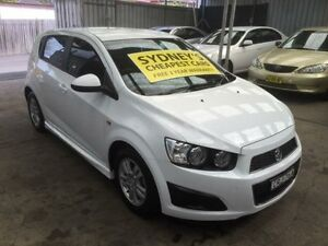 2013 Holden Barina TM MY14 CD White 6 Speed Automatic Hatchback Five Dock Canada Bay Area Preview