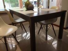 Dining table  and 4 replica Eames chairs Waikiki Rockingham Area Preview