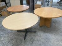 3 x 4ft round meeting room tables