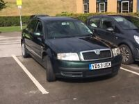 Skoda Superb 1.9TDi PD Classic 100, MOT Dec 2018. Met Green.