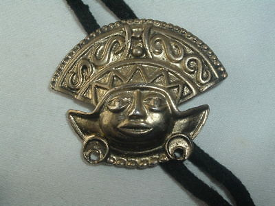 VINTAGE RP SIGNED METAL EGYPTAIN HEAD BOLO TIE