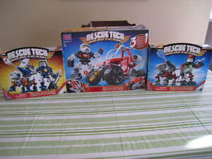 3 ensembles Rescue Tech de Mega Bloks