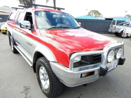 1999 Mitsubishi Triton MK GLS Double Cab Red & Silver 5 Speed Manual Utility Enfield Port Adelaide Area Preview