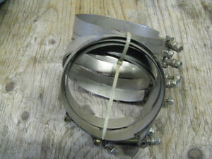 Stainless 4 & 5 Inch Hose Clamps Kawartha Lakes Peterborough Area image 2