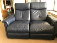Furniture Village leather recliner 2 seater sofa