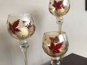 Candle holders-Fall themed