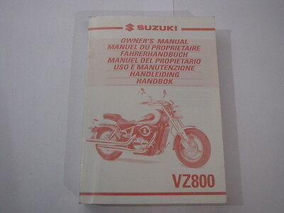 SUZUKI VZ800 2000 OWNERS MANUAL HANDLEIDING MANUEL DU PROPRIETAIRE