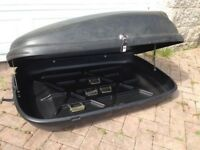 Roof Box for sale. Black colour, lockable, can be mounted on any generic roof rack.