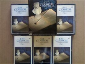 CSL V-RARE LIMITED EDITION VARIOUS COMPOSERS JUST CLASSICAL 101 POPULAR MASTERPIECES CASSETTE TAPES