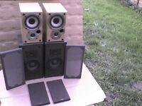 50W Mission Denon SC-M50 Stereo Speakers + FREE 50W Denon SC3 Speakers