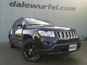2012 Jeep Compass North 4x4 HEATED SEATS SUNROOF BLACK PAINTED A London Ontario image 1