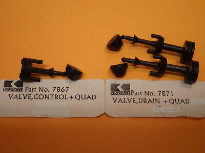 Kinetico Water Softener Valve, Drain/Control +Quads, #7871(2) 7867, Seals #7869