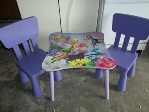 Disney Tinkerbell, Little Tikes Tykes or Step 2 Table & Chairs