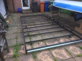 Rhino Roof Rack Citroen Relay Peugeot Boxer Fiat Ducato 4 sections 410x180cm As new fits XLWB